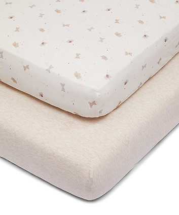 Mothercare Little And Loved Fitted Cot Bed Sheets - 2 Pack