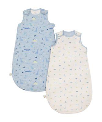 Mothercare Sleepysaurus Sleeping Bag 1 Tog - 0-6months 2pk