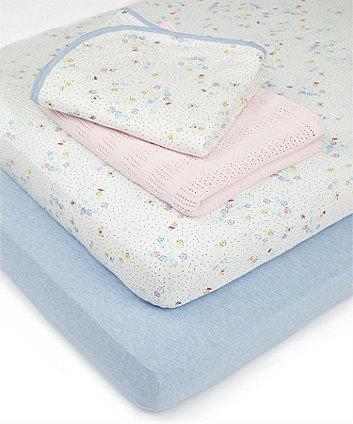 Mothercare Spring Flower Cot Bed Starter Set