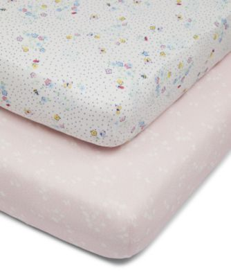Mothercare Spring Flower Fitted Cot Sheets - 2pk