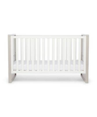 Mothercare Hartland Cot Bed - White/Grey