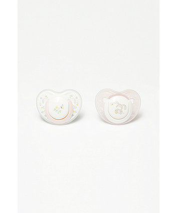 Mothercare Spring Flower Orthodontic Soothers 0-6Months - 2 Pack