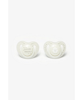 Mothercare Sleepy Sheepy Airflow Night Soothers Birth-6Months - 2 Pack