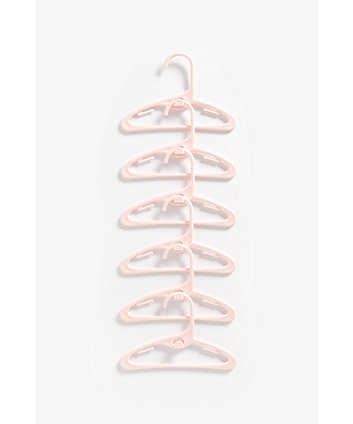 Mothercare Pink Baby Hangers - 6 Pack