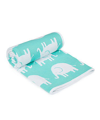 Mothercare Sleepy Safari Knitted Blanket