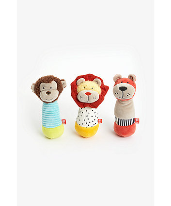 Mothercare Into The Wild Rattles - 3 Pack