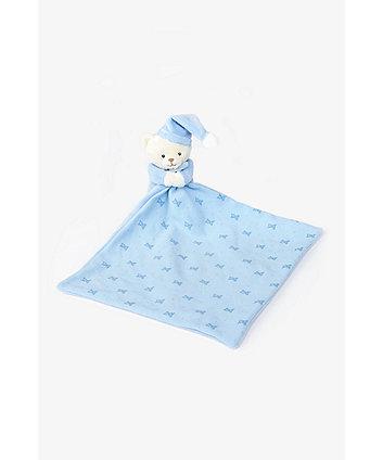 Mothercare Blue Bedtime Bear Comforter Blankie
