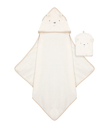 Mothercare Little And Loved Cuddle 'N' Dry And Mitt Set