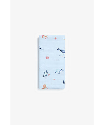 Mothercare You, Me And The Sea Luxury Muslin Blanket