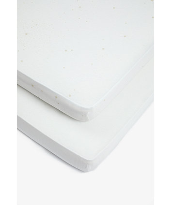 Mothercare Cream Fitted Cot Bed Sheets - 2 Pack