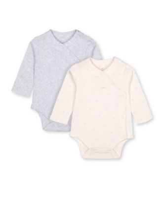 Mothercare My First Little Bunny Pink And Grey Bodysuits - 2 Pack