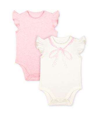 Mothercare My First Little Bunny Frill Short Sleeve Bodysuits - 2 Pack