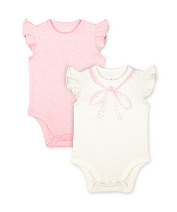 Mothercare My First Frill Bodysuits - 2 Pack