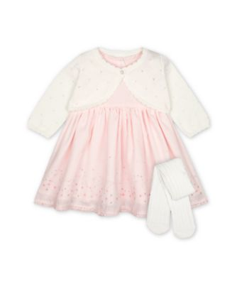 Mothercare My First Little Bunny Dress, Cardigan And Tights