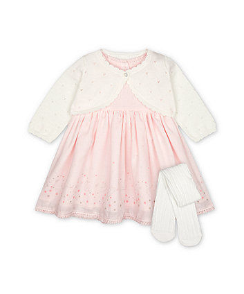 Mothercare My First Bunny Dress, Cardigan And Tights