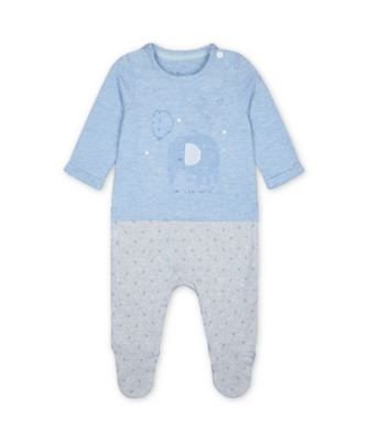 Mothercare My First Blue Safari Mock Elephant T-Shirt All In One
