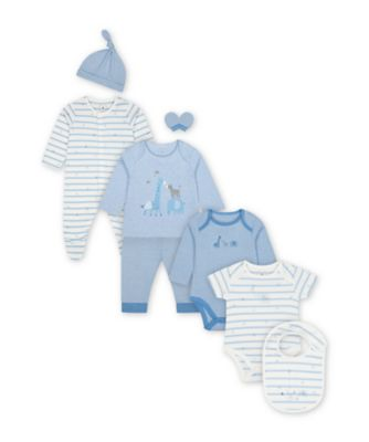Mothercare My First Blue Safari 8-Piece Starter Set