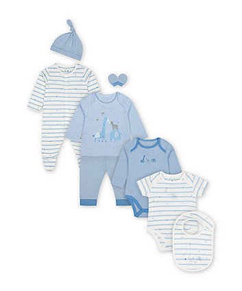 Mothercare My First Blue Safari 6-Piece Starter Set