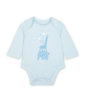 Mothercare My First Boy Uber Long Sleeve Bodysuit