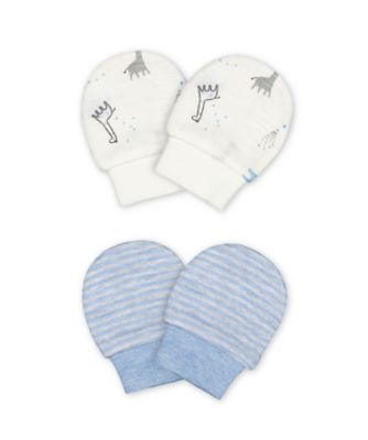 Mothercare My First Boy Little Mittens - 2 Pack
