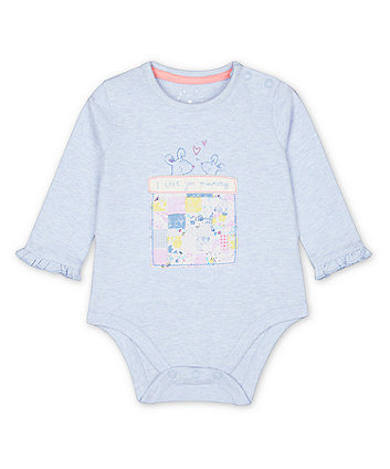 Mothercare Blue Mouse Love You Mummy Bodysuit