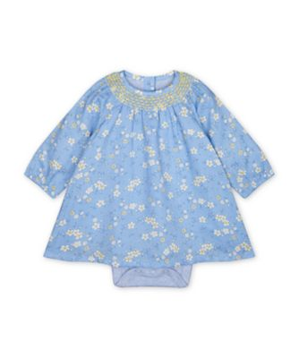 Mothercare Spring Flower Blue Floral Woven Dress