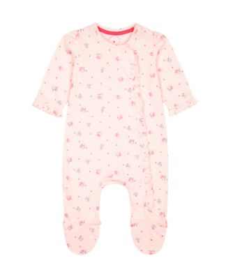 Mothercare Pink Purrfect Cat And Bunny Frill All In One