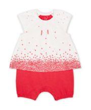 Mothercare Pink Hearts Mock-Top Romper