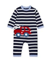 Mothercare Fire Engine Striped All In One