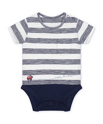 Mothercare Striped, Fire Engine Bodysuit