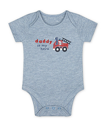 Mothercare Daddy Is My Hero Bodysuit