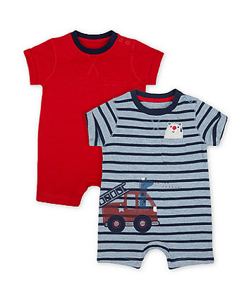 Mothercare Fashion To The Rescue Jersey Rompers - 2 Pack