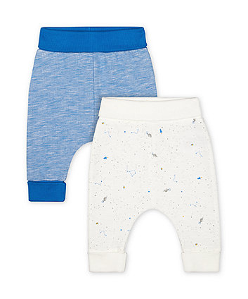 Mothercare Fashion Space Dinosaur Joggers - 2 Pack