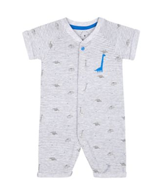 Mothercare A-Roar-Able Grey Dinosaur Striped Romper