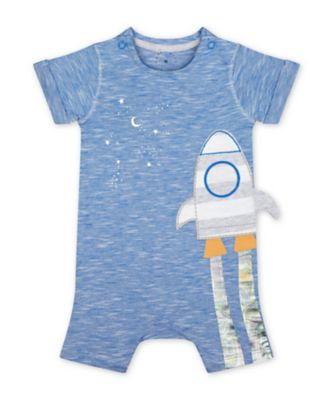 Mothercare A-Roar-Able Blue Space Dinosaur Rocket Romper