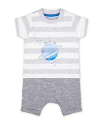 Mothercare A-Roar-Able Space Dinosaur Planet Mock-Top Romper