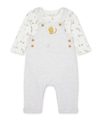 Mothercare Little Leopard Dungarees And Bodysuit Set