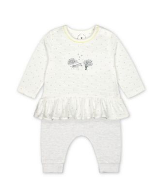 Mothercare Grey Little Zebra Top And Leggings Set