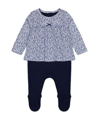 Mothercare Heritage Ditsy Navy 2 Pieces Set