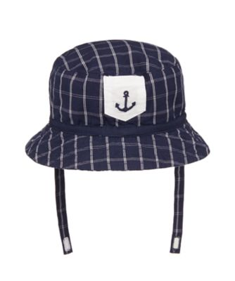 Mothercare Heritage Navy Check Sun Hat
