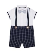 Mothercare Heritage Mock Shorts And Shirt Romper