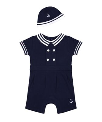 Mothercare Heritage Anchor Romper And Hat Set