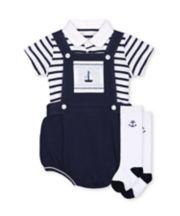 Mothercare Heritage Bibshorts, Bodysuit And Socks