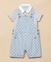 Mothercare Star Bibshorts And Bodysuit Set