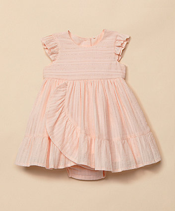 Mothercare Pink Frill Sparkle Dress