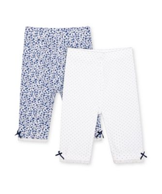 Mothercare Heritage Navy Spot And Floral Leggings - 2 Pack