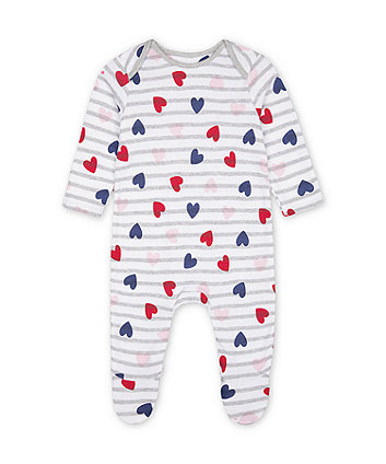 Mothercare Stripe And Heart All In One