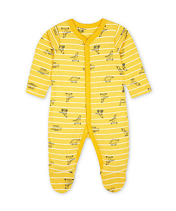 Mothercare Yellow Dinosaur All In One