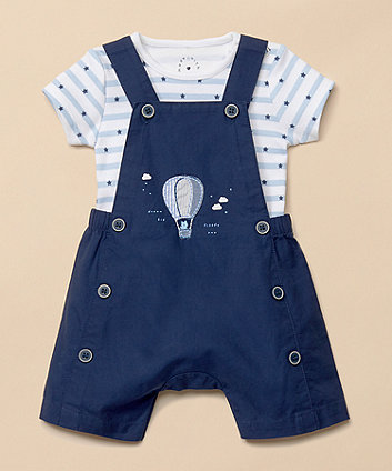 Mothercare Balloon Bibshorts And Bodysuit Set