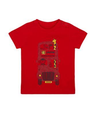 Mothercare Red Alert Red London Double-Decker Bus Animal Short Sleeve T-Shirt